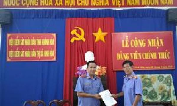 Chi bộ Viện kiểm sát nhân dân thị xã Ninh Hòa tổ...
