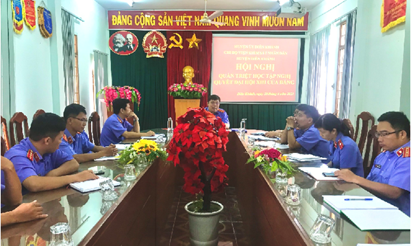 Chi bộ Viện KSND huyện Diên Khánh tổ chức Hội nghị...