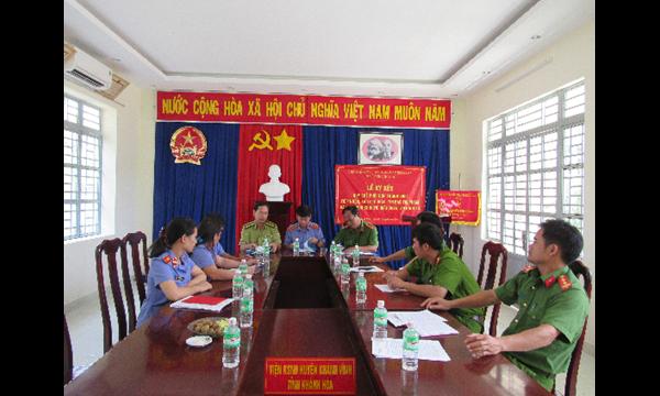 Liên ngành Công an, Viện kiểm sát, Hạt Kiểm lâm huyện Khánh......