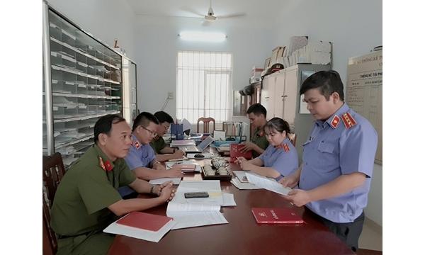 Viện KSND huyện Khánh Vĩnh trực tiếp kiểm sát việc tiếp...