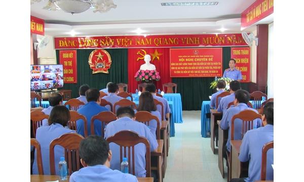 VKSND tỉnh Khánh Hòa tổ chức Hội nghị chuyên đề...