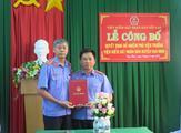 Lễ công bố, trao Quyết định bổ nhiệm chức vụ Phó Viện trưởng Viện kiểm sát nhân dân huyện Vạn Ninh